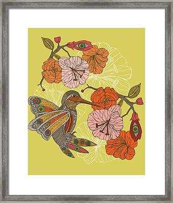 Emilia The Bird Framed Print by Valentina