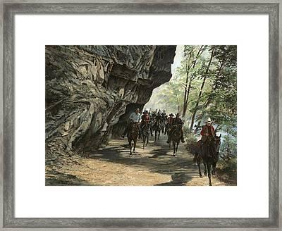 Eminence Trail Ride Framed Print by Don  Langeneckert