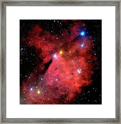 Emission Nebulae Framed Print by Canada-france-hawaii Telescope/jean- Charles Cuillandre/science Photo Library