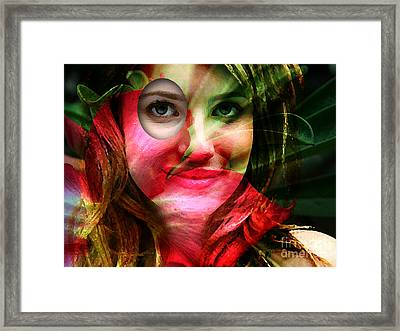 Emma Roberts Painting Framed Print