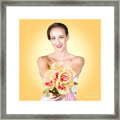 Emotional Beauty In A Special Spring Romance Framed Print