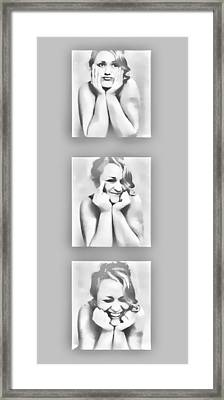 Emotions Framed Print by Kristie  Bonnewell