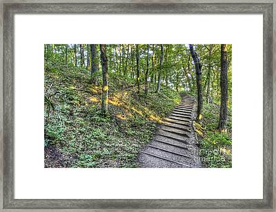 Empire Bluff Trail Framed Print