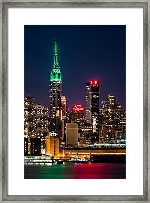 Empire State Building On Saint Patrick's Day Framed Print