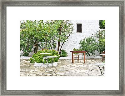 Empty Cafe Framed Print by Tom Gowanlock