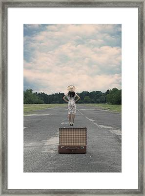 Empty Suitcase Framed Print