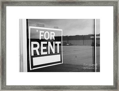 empty unused abandoned store on first avenue the town of leader sk Canada Framed Print