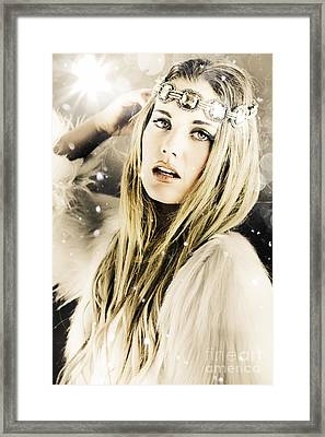 Enchanting Snow Princess Framed Print