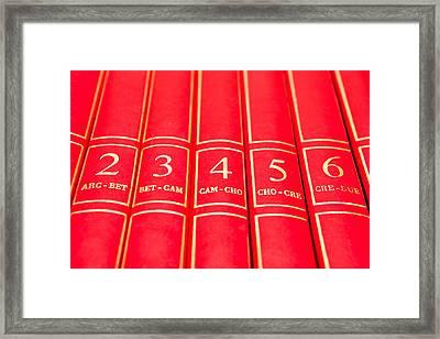 Encyclopedia Framed Print by Tom Gowanlock