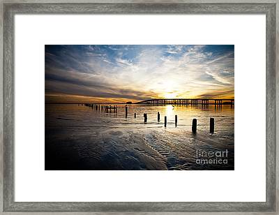 End Of Day Framed Print by Joan McCool
