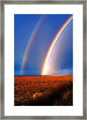 End Of The Rainbow Framed Print by Ron Regalado