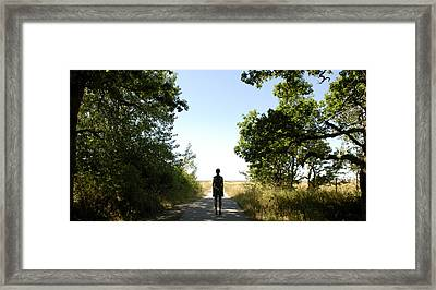 End Of The Road Framed Print by Martin Llado