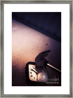 End Of Time Framed Print