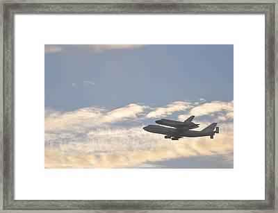 Endeavor Morning Flyover 1 Framed Print