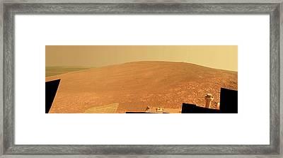 Endeavour Crater Framed Print by Nasa/jpl-caltech/cornell/asu