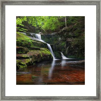Enders Falls Spring Square Framed Print by Bill Wakeley