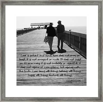 Endless Love  Framed Print by Andrea Anderegg