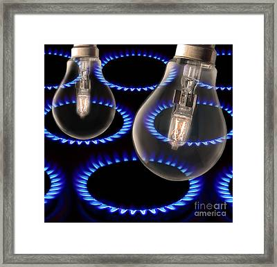 Energy Use, Conceptual Image Framed Print by Victor De Schwanberg