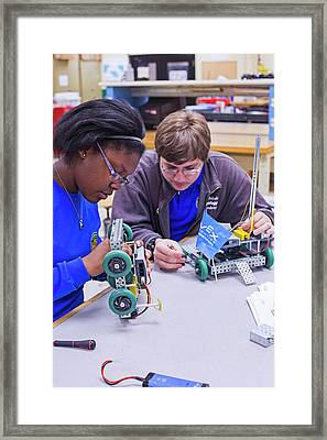 Engineering Academy Robotics Students Framed Print