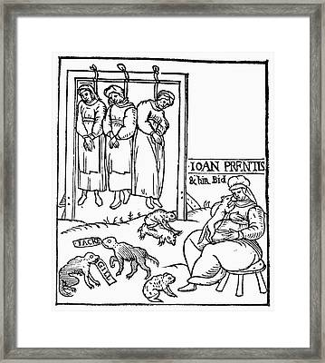 England Witches, 1589 Framed Print