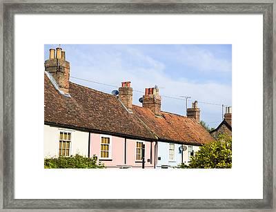 English Cottages Framed Print