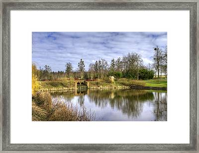 English Countryside Scene On A Stormy Day Framed Print