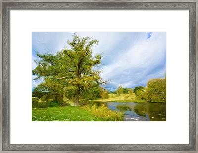 English Landscape Framed Print by Tom Gowanlock