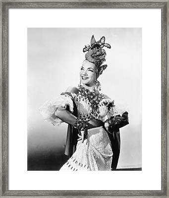 Entertainer Carmen Miranda Framed Print
