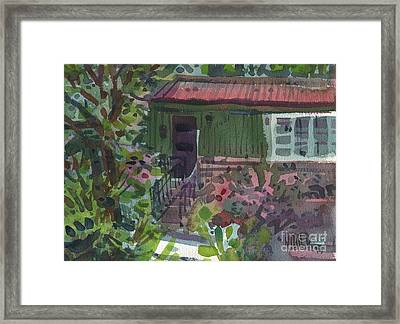 Framed Print featuring the painting Entrance by Donald Maier