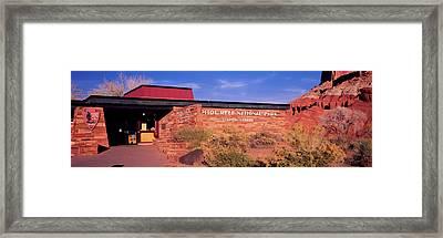 Entrance Of Capitol Reef National Park Framed Print