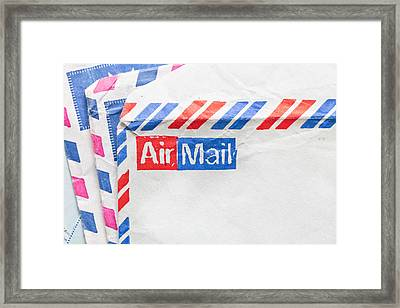 Envelopes Framed Print by Tom Gowanlock