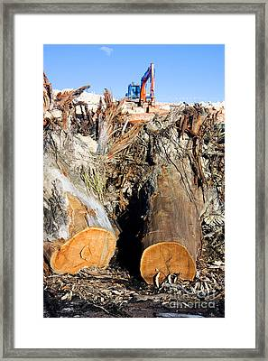 Environmental Destruction In Construction  Framed Print by Jorgo Photography - Wall Art Gallery