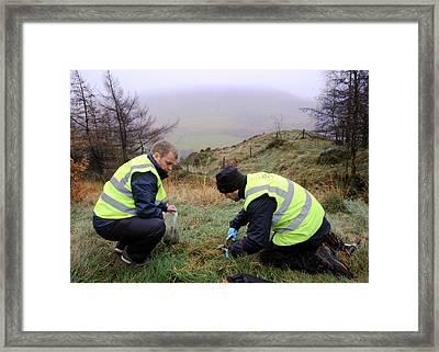 Environmental Monitoring Framed Print by Public Health England