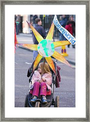 Environmental Protestor Framed Print