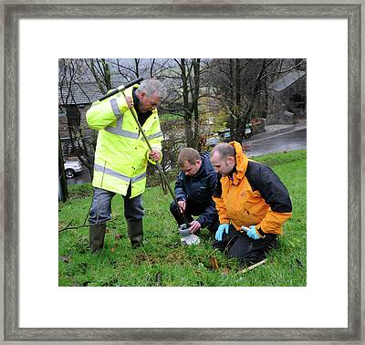 Environmental Soil Monitoring Framed Print by Public Health England