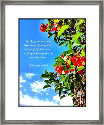 Ephesians 2 8 Framed Print