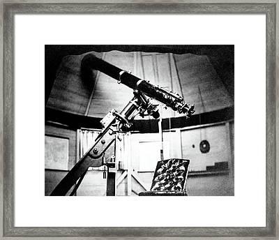 Equatorial Telescope Framed Print