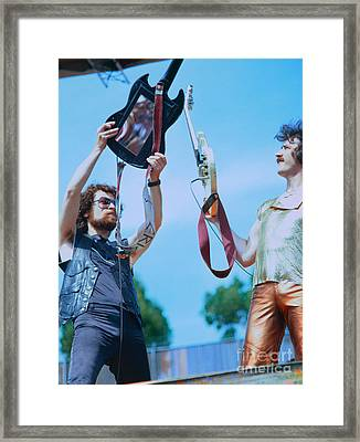 Eric Bloom And Buck Dharma Of Blue Oyster Cult At Day On The Green In Oakland Framed Print