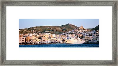 Ermoupoli, Syros, Greece Framed Print by Panoramic Images