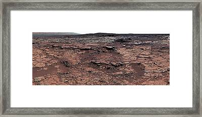 Erosion On Mars Framed Print by Nasa/jpl-caltech/msss