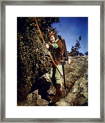 Errol Flynn In The Adventures Of Robin Hood Framed Print by Silver Screen