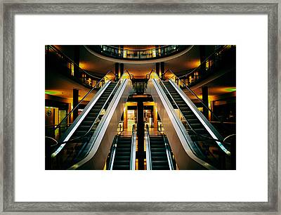 Escalator Framed Print