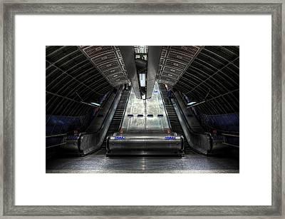 Escalator Framed Print by Svetlana Sewell