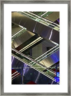 Escalators At Dubai Airport Framed Print