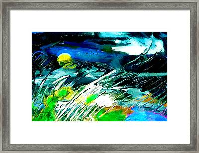 Framed Print featuring the painting Esperanto by Ron Richard Baviello