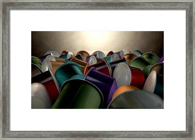 Espresso Coffee Capsules Framed Print by Allan Swart