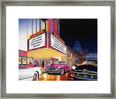 Esquire Theater Framed Print by Bruce Kaiser