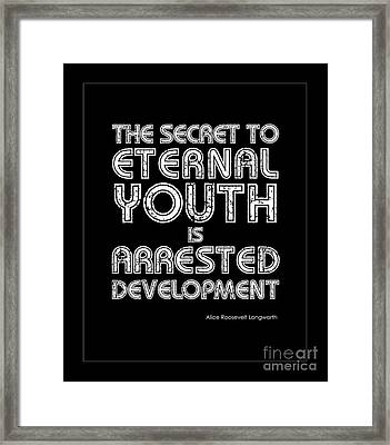 Eternal Youth Framed Print by Kate McKenna