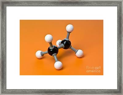 Ethane, Molecular Model Framed Print by Martyn F. Chillmaid