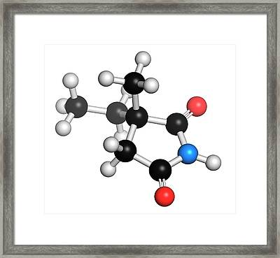 Ethosuximide Anticonvulsant Drug Molecule Framed Print